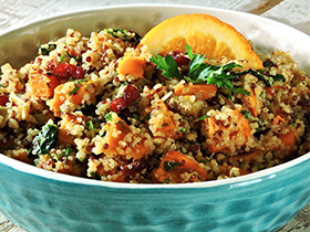 Warm Spiced Quinoa Salad